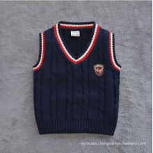 european style sweater Vest/cotton vest for baby boys/kids design vest