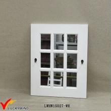 Белая винтажная модель зеркала стены окна сада с крюками