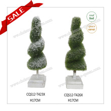 2017 Hot Sale Mini Garden Ornaments Plastic Home Decoration Artificial Plant Topiary