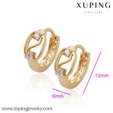 (29952) Xuping Femme Boucles d'oreilles avec 18K plaqué or bijoux en gros