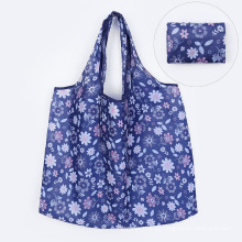 2021New Designs Eco-friendly 210D Polyester Reusable Foldable Shopping Bag