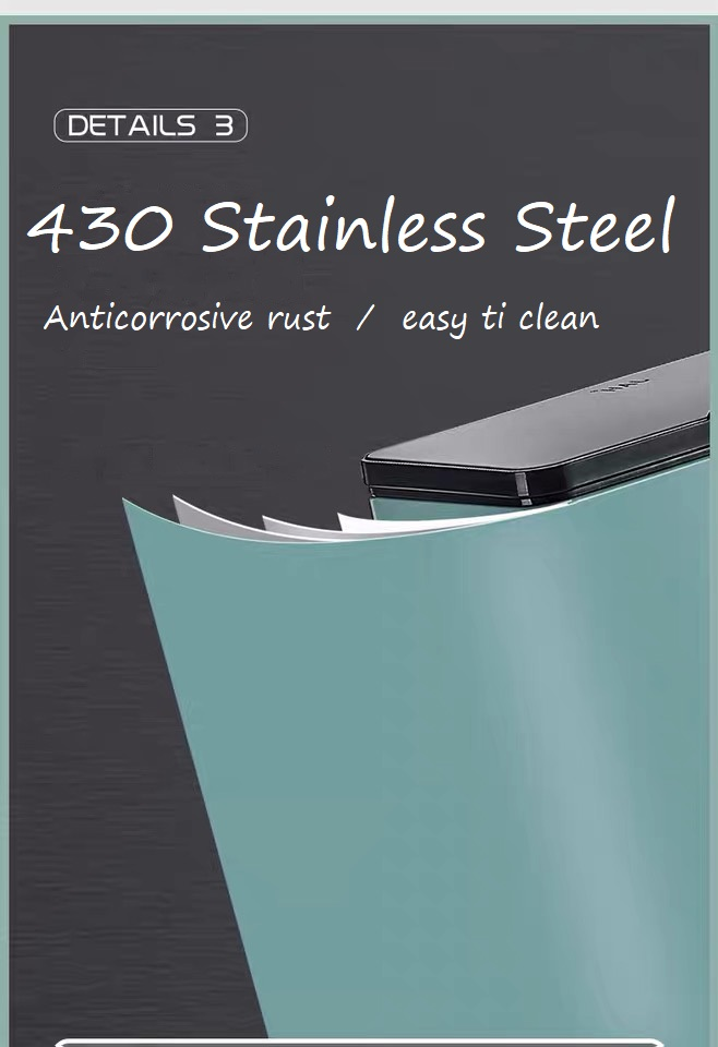 430 stainless steel wall-mounted garbage bin