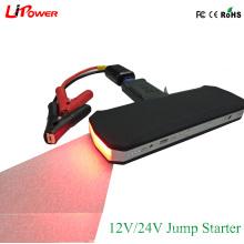 24V / 12V портативный автомобильный аккумулятор Booster Jump Starter для тяжелых грузовиков автобус