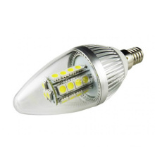Alta potencia C37 E14 LED 27 5050 SMD Candle bombilla luz de la lámpara