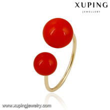 13863 Xuping new designed fashion gold plated women rings