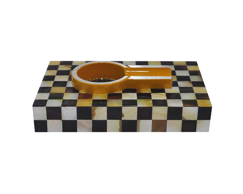 pen shell & golden MOP cigar ashtray