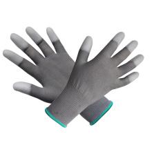 Polyester PP Gant PU doux revêtu de gomme