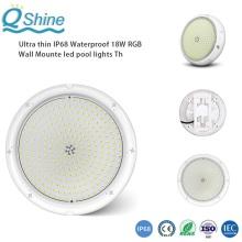 IP68 étanche 18W RGB LED lumières de piscine