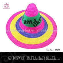 Sombrero de paja mexicano promocional del sombrero del más nuevo partido adulto