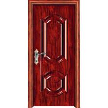 0,8 mm Porta de aço em madeira para interior