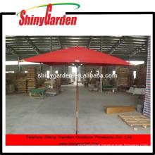 square wooden patio beach umbrella wood material
