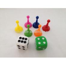 plastic pawns dices