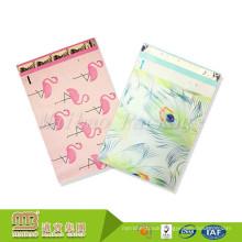 "Self Adhesive Sealing Strip Custom 10"" X 13"" Peacock And Pink Flamingo Design Poly Mailer Bag For Wholesale"