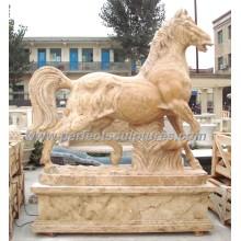 Stein Marmor Pferd Statue Tier für Garten Skulptur (SY-B116)