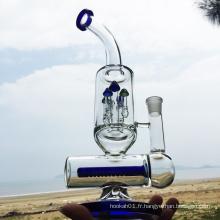 Tuyaux d'eau à fumer en verre bleu de conception le plus récent d'hiver (ES-GB-295)