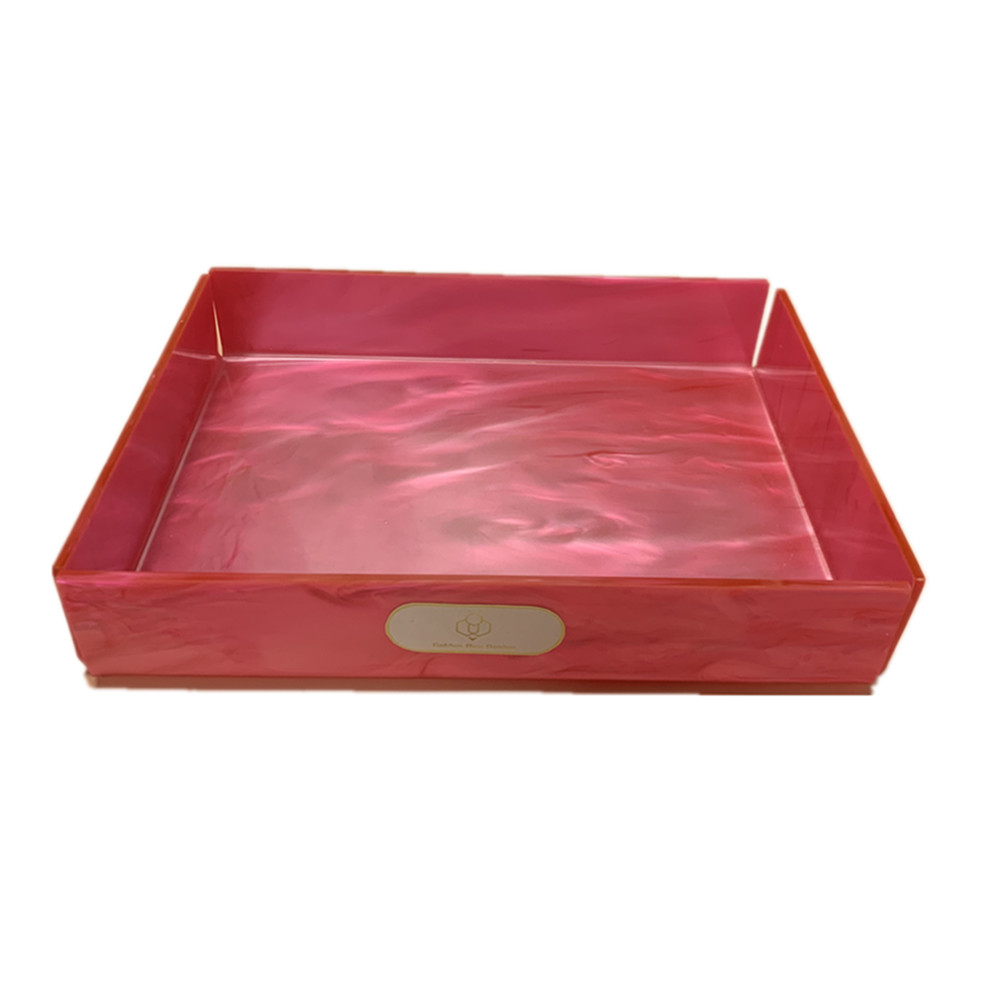 Acrylic Serving Tray Pink