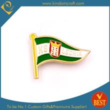 Emblema do Pin da bandeira de Kslechia com a embreagem da borboleta do chapeamento de ouro
