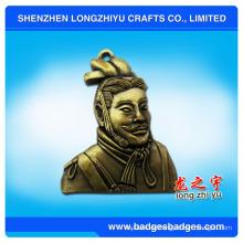 Klassische Person Custom Antique Nachahmung 3D Metall Abzeichen