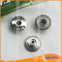 Bouton en métal, boutons Jean personnalisés BM1357