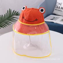 Оранжевая лягушка шапочка для детей