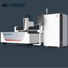 Máquina de corte a laser de fibra 1000w com acessório rotativo