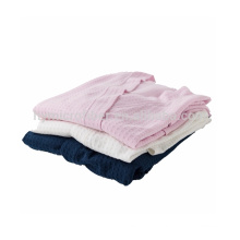 Children cotton terry towel bathrobe
