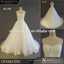 Поставщик Гуанчжоу свадебные платья без бретелек