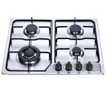 Cuisinière à gaz intégrée d'acier inoxydable de prix de 4 brûleurs, cuisinière à gaz