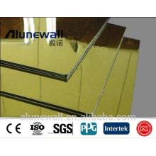 Alunewall SGS certificat Miroir finition ignifuge Aluminium Composite Panel acp aluminium bond