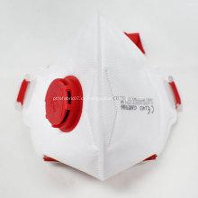 Gefaltete FFP3-Schutzmaske mit Ventil-CE-Zertifikat