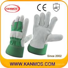 Зеленая промышленная безопасность Корова сплит кожаные рабочие перчатки (110093)