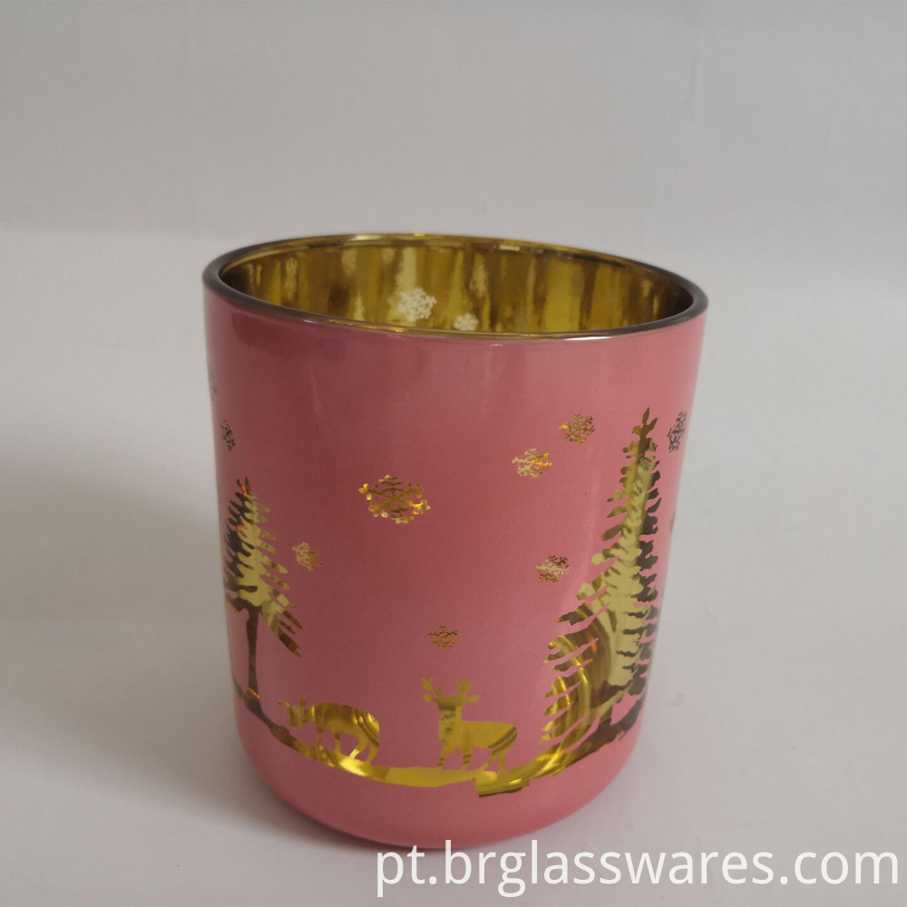 Christmas Candle Jar Pink