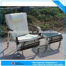 Chaise moderne en osier de jardin de rotin de meubles de patio moderne avec la table