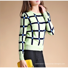 Ladies' pure cashmere sweater cardigan round neck long sleeve 100% cashmere cardigan