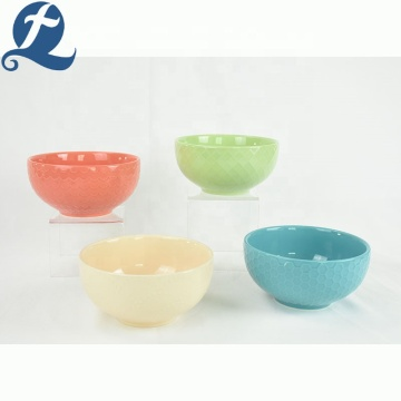 set di insalatiere in ceramica colorata per insalata da tavola