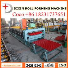 Máquina formadora de rolos de telhas de telhado de camada tripla