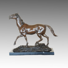 Tier Bronze Skulptur Pferd Handwerk Dekor Messing Statue Tpal-462