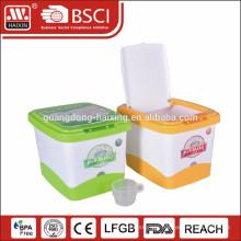 plastic home storage box, rice box, rice storage bin