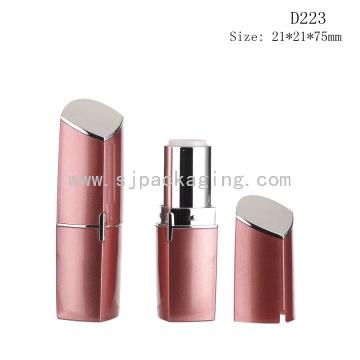 D223 Contenedor de tubo de lápiz labial vacío rojo plástico personalizado