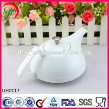 Personalizar logotipo bule de chá em cerâmica, bule de porcelana, bule de cerâmica