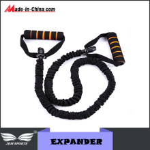 Sponge Wrapped Handle Soft Rubber Rope Chest Expander