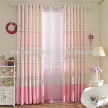 Cortinas impressas rosa cortinas blackout