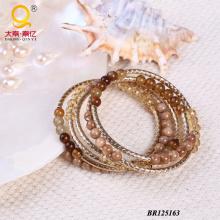 Trendy Large Coil Bracelet En Agate, Shell, Crystal (BR125163)