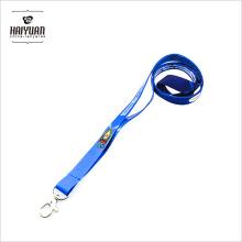2017 Wholesale Cheap Woven Blue Promotion No MOQ Lanyards