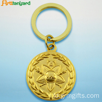 Metal Key Ring Dengan Gold Plated