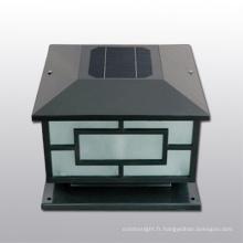 clôture solaire en gros post cap post lumineux, solaire cap lumière, solaire léger post palissades