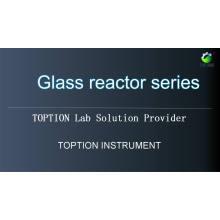 100л ПТФЭ двойной рубашкой стеклянный реактор для biopharmaceutica TOPT-100л
