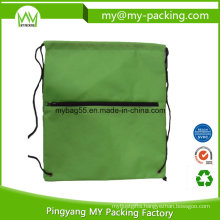 OEM Order Manufacturer Zipped Drawstring Bags for Shopping