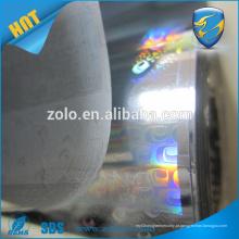China Low Price Self Adhesive Tranparent Clear Hologram 3D Film