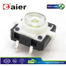 interruptores de botão de toque de led; mini botão de luz led; interruptores de botão finos